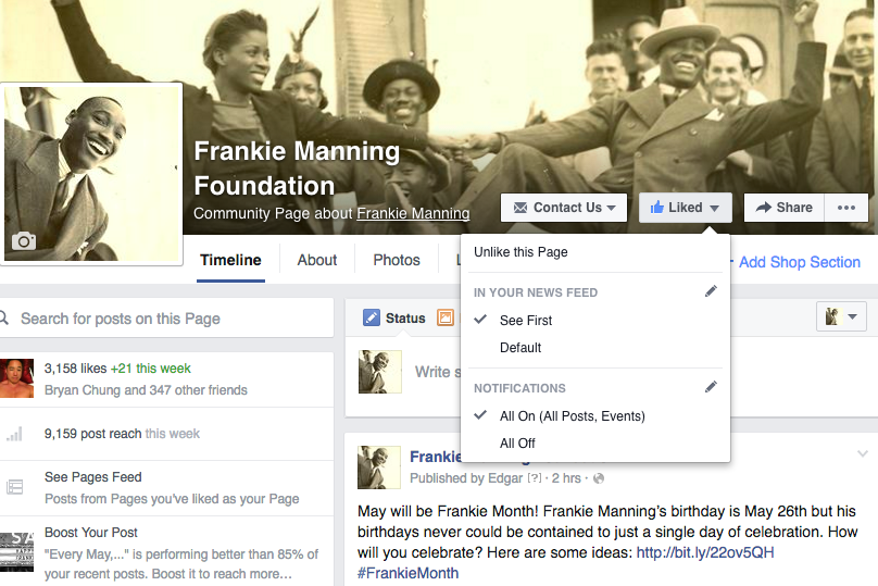 Follow the Frankie Manning Foundation