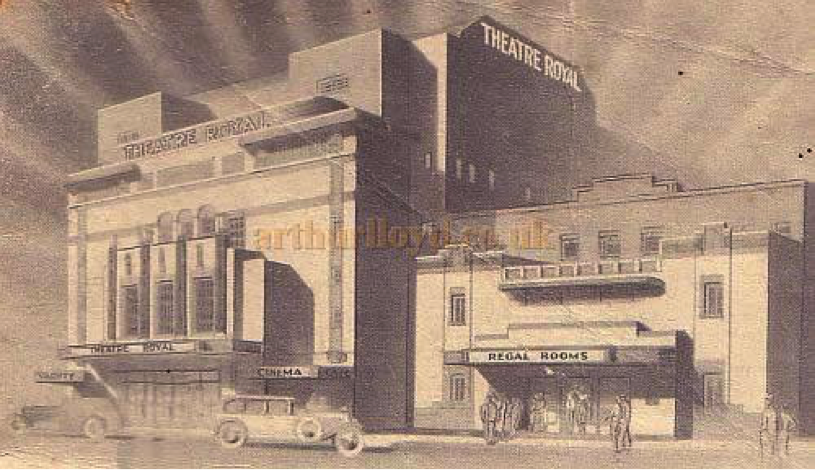 Image of the Theatre Royal from its opening programme in 1935 (Source arthurlloyd.co.uk)