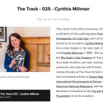 Cynthia Millman featured on The Track