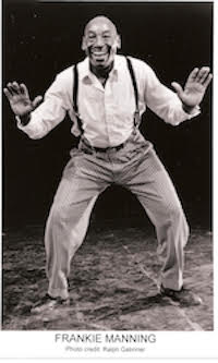 Frankie Manning performing squat Charleston, circa late 1980s.